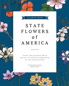 State Flowers of America: Coloring Book Por Sylvie Lee
